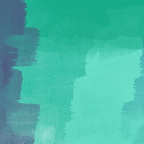 Mint & Blue Painterly Abstract Art