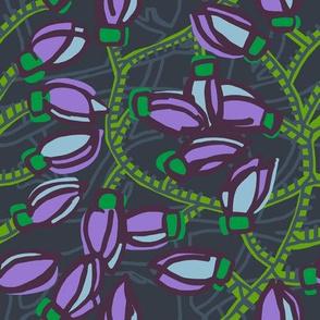jade vine [plum + kelly green]