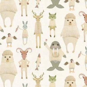 Animals of the Arctic circle