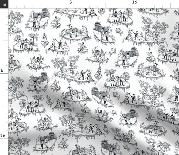 Zombie Toile Black And White