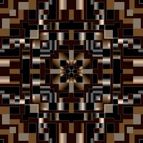 Black Brown and Ivory Mosaic
