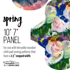 10in 7in Cloth Pad Panel for Fat Quarters SPRING