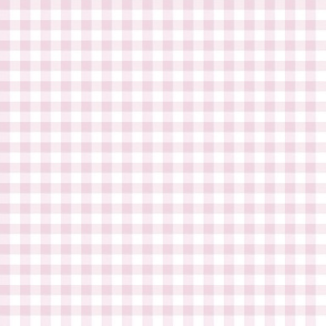 light pink rose gingham