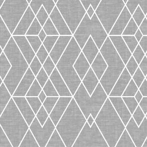 Geometric Grid Texture  gray