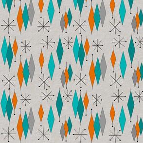 Mid-Century Modern Diamond Pattern