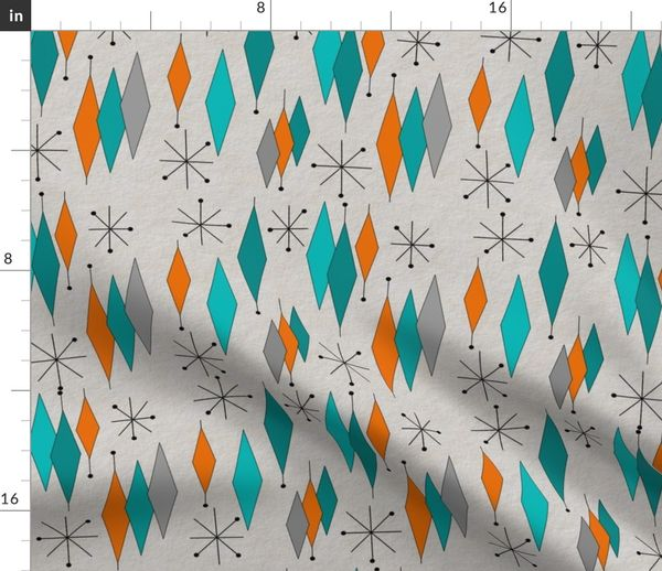 Mid Century Modern Diamond Pattern Spoonflower