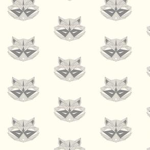 Raccoons - Small on Cream