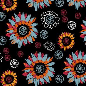 Autmun Black Floral