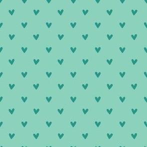Happy Hearts in Aqua