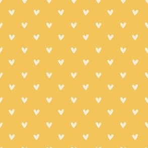 Happy Hearts in Yellow