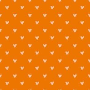 Happy Hearts in Orange