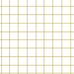 Grid - mustard on white, irregular