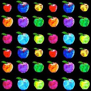 36 Apples on Black