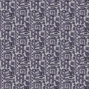 greek block print in lavender