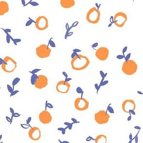 Oranges, Watercolor summer fruits, citrus