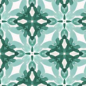 Watercolor Green Tile 2
