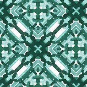 Watercolor Green Tile 3