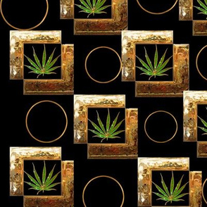 Gold Framed Ganja 12x12