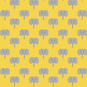 Geometric Elephants on Yellow