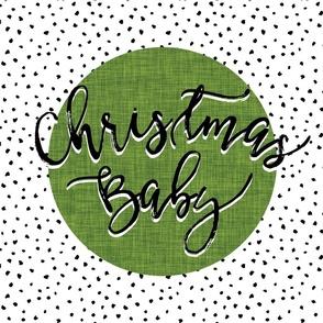 Christmas Baby Lovey // Moss Linen