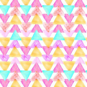 Berry Watercolor Triangles // small