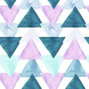 lavender watercolor triangles