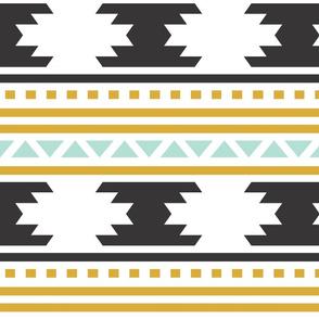 Black Aztec Stripe
