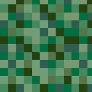 Deeply Green Pixel Fabric
