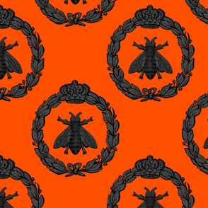 Napoleonic Bees ~ Queen Bee ~ Halloween Marquisite on Marquise