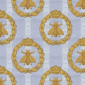 Napoleonic Bees ~ Queen Bee ~  Faux  Gilt on Brummel Moire