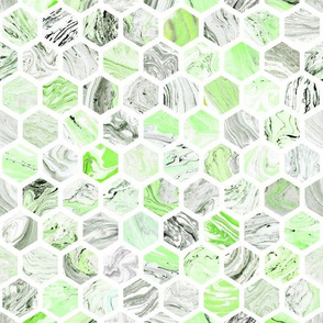 Marbled Honeycomb in Green
