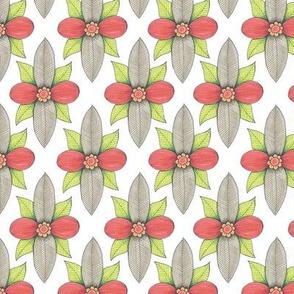 floral leafy diamond pattern