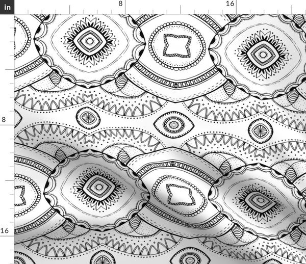 Fabric by the Yard Coloring Book - Design 2