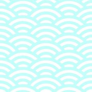 ice blue scallop