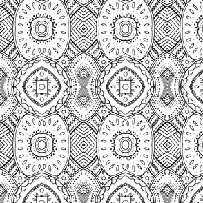 Lace-like Design | Black and White - vertical