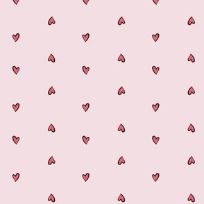 Little Pink Hearts - Love Tornado Coordinating Fabric