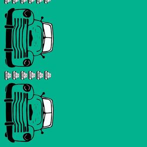 Truck_border_print_green