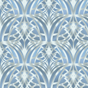 Light blue Art Deco Pattern