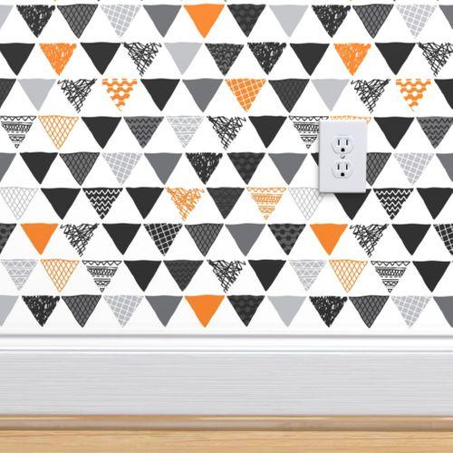 5548893 geometric tribal aztec triangle orange tangerine modern patterns small by littlesmilemakers