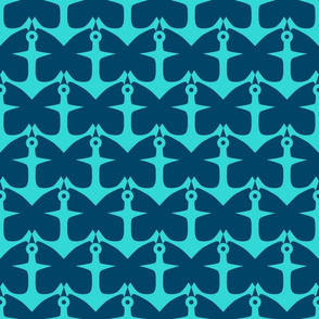 Anchors and Butterflies in Blues