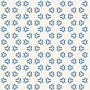 Acrylic Blue Triangular Circles