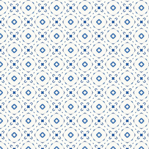 Acrylic Blue Square Dots