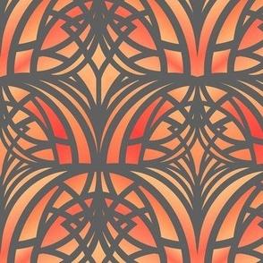 Orange Art Deco (small)