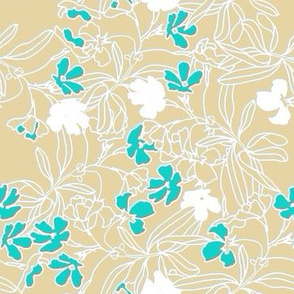 Bay Breeze flowers in turquoise