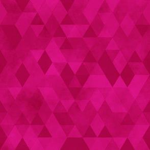 Watercolour Polygonal Triangles - Magenta