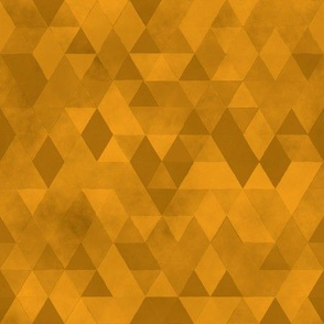 Watercolour Polygonal Triangles - Yellow / Ochre