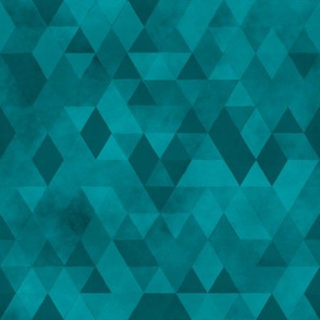 Watercolour Polygonal Triangles - Blue