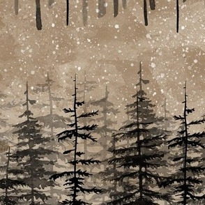 Pine trees brown