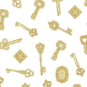 Antique Keys White Gold