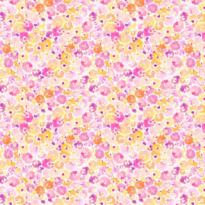 Abstract Watercolor Flower Pattern